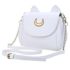 Luna Cat lather  Shape Chain Shoulder Bag