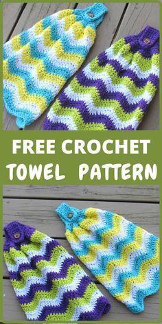 Crochet Towel Holders, Crochet Dish Towels, Crochet Towel Topper, Crochet Kitchen Towels, Crochet Dishcloths, Knit Kitchen Towel Pattern, Crochet Blankets, Crochet Gratis, Free Crochet