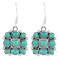 Sterling Silver Earrings Turquoise #50thbirthday party #turquoiseearrings #blueearrings