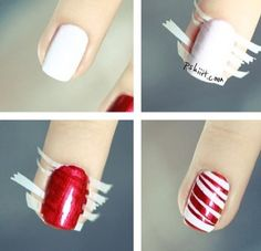 Candy cane nails!!