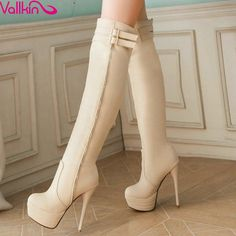 ReShop Store now has VALLKIN Black Whi... - #buy #sexy here http://www.reshopstore.com/products/vallkin-black-white-beige-over-the-knee-boots?utm_campaign=social_autopilot&utm_source=pin&utm_medium=pin