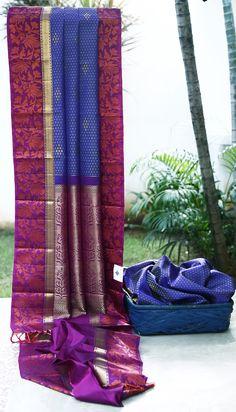 Lakshmi Handwoven Kanjivaram Silk Sari 1000112 - Sari / Kanjivarams - Parisera