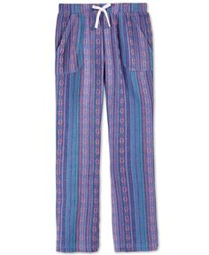 Roxy Girls' Big Pelican Mixed-Print Pants