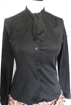 Vintage Black Blouse by Faradey London Designer by crabtulip