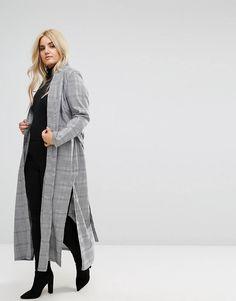 ASOS - check duster coat