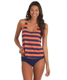 I love the 'Splendid Marcel Stripe Tankini Duo and Solid Band Swim Botto'. Shop SwimSpot.com