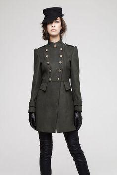 Abrigo militar gris