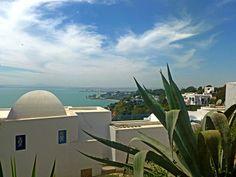 Вид на Тунис с высоты Сиди-Бу-Саида