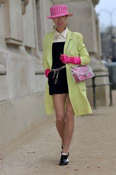 Denisa Palsha aprés le défilé Chanel au Grand Palais en Mars 2015. Shooting Bain de Lumière#offduty #streetstyle #PFW#fashionweek