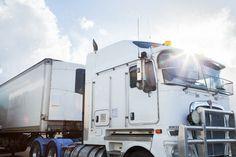 Truck sunlight Kenworth Truck with sun flare over it