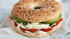 Healthy Egg Recipes for Breakfast Bagel Egg Sandwich #egglandsbest
