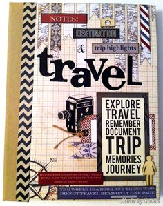 A Travel Notebook made by Sandra Mouwen for the Simon Says Stamp Monday challenge Air Mail. August 2013
