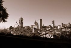 #Towers in the Upper City, Bergamo, Italy --- #Torri in Città Alta, #Bergamo