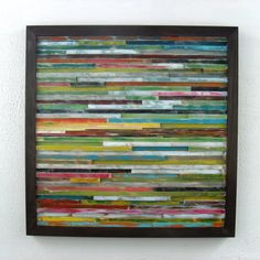 Love this Etsy shop. Abstract Painting - Distressed Wood Wall Art Sculpture. via Etsy.