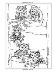 More Eclectic Owls: An Adult Coloring Book (Eclectic Coloring Books) (Volume Coloring Pages For Grown Ups, Owl Coloring Pages, Adult Coloring Book Pages, Printable Coloring Pages, Coloring Sheets, Coloring Books, Colorful Drawings, Colorful Pictures, Owl Crafts