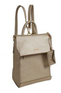 Doca stylový zlatý batoh