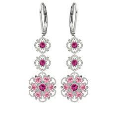 Lucia Costin Silver Fuchsia Light Pink Earrings (Lucia Costin Fuchsia Light Pink Earrings) Women's