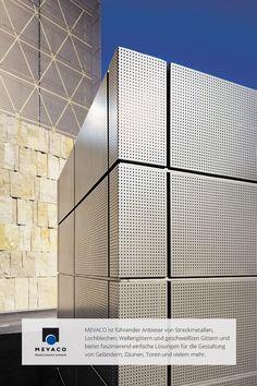 Die Tiefgarage der Münchner Hauptsynagoge Ohel Jakob beeindruckt durch Leitungsführungen aus Lochblech. Eine wahre Offenbarung in Sachen Design. Mehr unter http://www.mevaco.de/fascination-21 #MEVACO #Tiefgarageneinfahrt #Aluminium #Lochblech #FaszinationNo21
