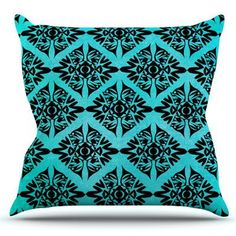 KESS InHouse Eye Symmetry Pattern by Pom Graphic Design Outdoor Throw Pillow