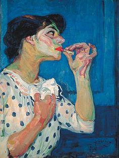 Frantisek Kupka, Le rouge à lèvres II on ArtStack Figure Painting, Painting & Drawing, Painting Inspiration, Art Inspo, Frantisek Kupka, Blog Art, L'art Du Portrait, Portraits, Figurative Kunst