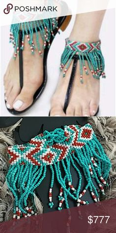 "BOHEMIAN FRINGE BEADED ANKLETS (2 anklets) Brand new Boutique item Price is firm Bundle to save  Check out these fabulous Bohemian inspired beaded Fringe anklets! Aren't they just too much fun? Listing is for two anklets as seen in pictures. Colors are red turquoise white and bronze.   Beaded anklets. Size : 3 1/2"" H, 8 1/2"" + 1/2"" L. Adjustable button closure Measurements are approx  ** These are also available in red listing is in my Boutique  Beads beaded bono hippy groovy colorful…"