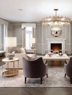 Luxury interior look design ideas 35 Art Deco Living Room, Chandelier In Living Room, Living Room Lighting, My Living Room, Living Room Designs, Bedroom Lighting, Small Living, Kitchen Lighting, Contemporary Home Decor
