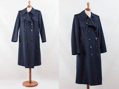 1960s trench, raincoat 60s, waterproof trench, blue coat, raincoat, vintage raincoat, navy blue man coat, double breast coat, men raincoat by MyLoftVintage on Etsy