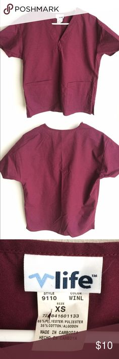 Maroon scrub top Cute solid color scrub top for your clinical! Size is XS. life uniform Other