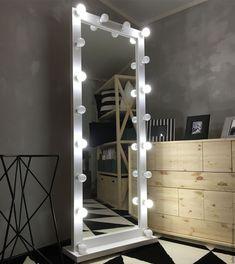 Купить Зеркало напольное FANTOM 180/70 18 патронов - белый, зеркало, зеркало напольное