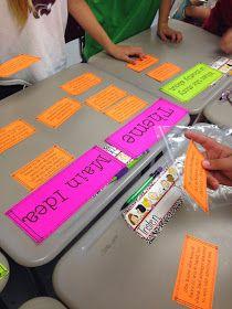 ELA in 5th grade. Theme vs Main idea.  Good hands-on learning for upper grades!