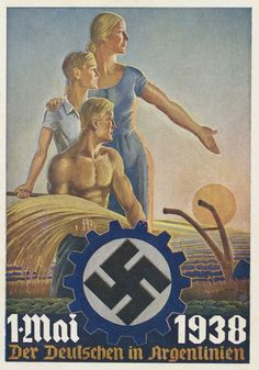 This postcard says 'Germans in Argentina. Circa 1938.