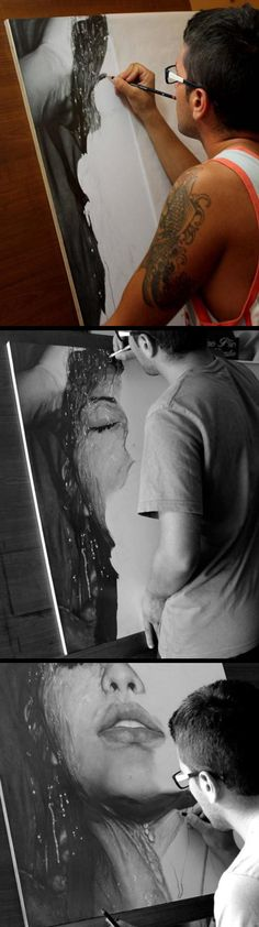 Hard Edge Realism Painting - follow the pin to see more of his fantastic work