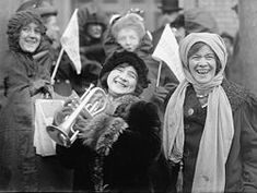 women suffragists demonstrating for the right to vote, February Suffragette Rose Sanderson is holding the trumpet. Great Women, Amazing Women, Belle Epoque, Jean Shinoda Bolen, Finnish Women, Aho Girl, Suffrage Movement, Short Jokes, Socialism