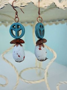 Peace for the Birds Earrings by playsculptlive, $26.00