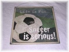 Amazon.com: Life Is Fun Soccer Is Serious Wooden Boys Sports Bedroom Decor Sign Wood Signs: Home & Kitchen $13.99