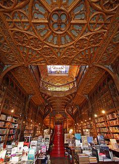 The wondrous Livraria Lello bookshop in Porto, Portugal
