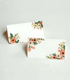 Rifle Paper Co. Dusty Rose Place Cards; In love with all of their beautiful, floral designs.
