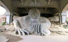 The Fremont Troll and other fun things to do in Seattle with kids.
