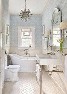 Room of the Day: A Luxury Master Bathroom With a Historic Feel