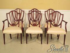37380E: Set Of 6 BAKER Historic Charleston Mahogany Dining Chairs