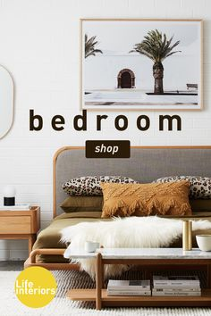 Browse a wide range of bedroom furniture, including bed frames, bed heads & bedside tables. Modern styles in sets, or statement pieces to create your own style! Bedroom Layouts, Room Ideas Bedroom, Bedroom Styles, Dream Bedroom, Home Bedroom, Bedroom Decor, Master Bedroom, Wall Decor, Cool Bedroom Furniture