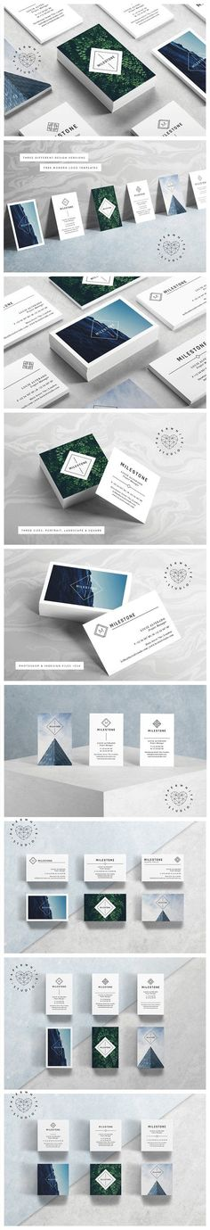 MILESTONE Business Cards by Paperwhite Studio on creativemarket, Business Card Templates, Graphic Design Resources, Products, Business Card Maker, Unique Business Cards, Business Branding, Business Card Design, Creative Business, Web Design, Logo Design, Creative Design, Branding Design