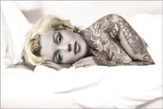 MARILYN-MONROE-with-tattoo-UNIQUE-BODY-ART-collectors-poster-24X36-HOT-NEW