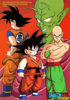 Goku, Tien, and Demon King Piccolo