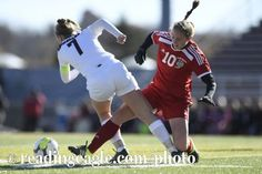 Fleetwood's Rebekah Earnest (10) collides with Shikellamy's Elise Brubaker (7). GIRLS SOCCER Fleetwood Tigers defeat the Shikellamy Braves 3-2 in a PIAA Class 3A quarterfinal at Harman-Geist Memorial Field, Hazleton. Photo by Jeremy Drey 11/12/2016