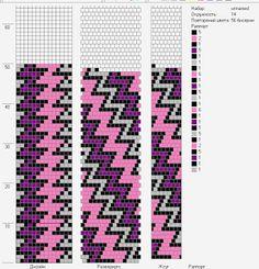 tubular bead crochet - Lbeads: 14 - zig-zag