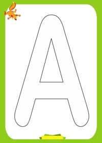 Free printable alphabet coloring pages. Alphabet coloring pages for preschool, kindergarten and elementary school children to print and co. Alphabet Letter Templates, Alphabet Coloring Pages, String Art, Elementary Schools, Free Printables, Kindergarten, Preschool, Child Development, Lettering