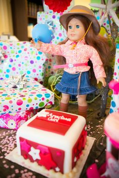 American Girl Birthday Party for Becca! AG Dolls, Ice Cream Sundaes, Our Generation Stuff