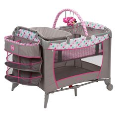Disney Baby Sweet Wonder Play Yard with 3 Tiers of Storage - PY373EGF