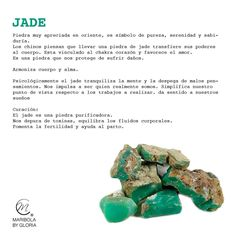 Aprendemos sobre el jade.  Copyright: maribolabygloria.com